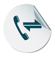 incoming and outgoing call symbol of the incoming vector image