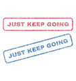 just keep going textile stamps vector image vector image