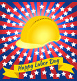 labor day in the united states 3 september vector image