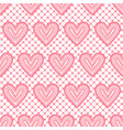 lace seamless pattern with hearts vector image