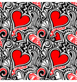 Love Valentine seamless pattern vector image vector image
