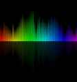 multicolor sound wave from equalizer background vector image vector image