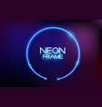 neon frame background vector image