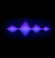 neon wave sound background music soundwave vector image vector image