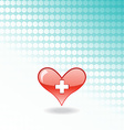 red medical heart vector image