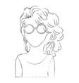 retro woman cartoon vector image vector image