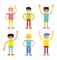 Set of cheerful children boys vector image vector image