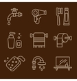 Set of Icons Bathroom vector image vector image
