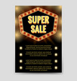 shining super sale brochure flyer template vector image