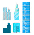 skyscrapers buildings isolated tower office city vector image vector image
