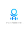 speech recognition logo on white vector image