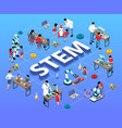 stem education isometric flowchart vector image vector image