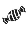 striped bonbon icon simple style vector image vector image