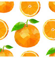summer pattern with oranges flowers and vector image vector image