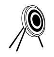 target bullseye strategy goal sign symbol icon vector image