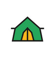 tent icon on white background vector image