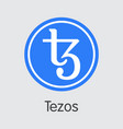 tezos digital currency xtz colored logo vector image vector image