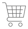 trolley thin line icon shop and market cart sign vector image