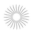 Vintage Linear Sunburst vector image vector image