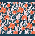 watercolor floral meadow ditsy print garden vector image vector image