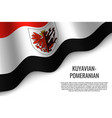 waving flag region of poland vector image