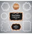 White Christmas Lights on Blackboard vector image vector image