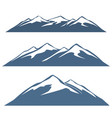 a set of mountain ranges vector image