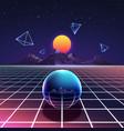 retro vibrant futuristic synth night poster vector image