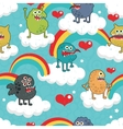 Rainbow Monster Party vector image