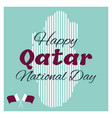 18 december qatar national day card vector image