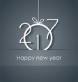 2017 Happy New Year for your backgrounds vector image