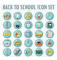 back to school icon set part 2 vector image