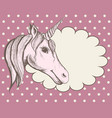 background with a fantastic unicorn for the cover vector image