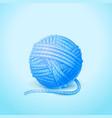 ball of knitting yarn isolated vector image vector image