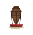 big old pottery vase with egyptian symbols on vector image vector image
