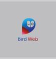 bird icon logo modern owl colorful web design vector image vector image