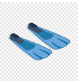 blue flippers isometric icon vector image vector image