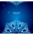 Blue ornament for text vector image