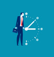 business man and time management concept business vector image