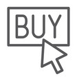 buy now line icon shopping and commerce buy vector image vector image