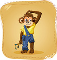 cartoon monkey boy vector image