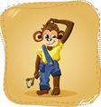 cartoon monkey boy vector image vector image
