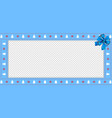 christmas or new year rectangle border frame with vector image vector image