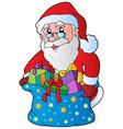 christmas santa claus 3 vector image vector image