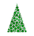 christmas tree dotted isolated on white vector image vector image