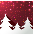 Christmas trees background greeting card vector image