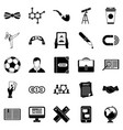 classman icons set simple style vector image vector image