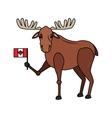 deer cartoon icon vector image vector image