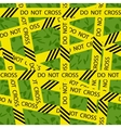 do not cross tape seamless pattern vector image