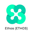 ethos ethos crypto coin ic vector image vector image